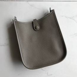 Wholesale real leather satchels - Hot sell classic style Evelyn real leather women fashion bags cross body bag and with letter hollow out shoulder bag