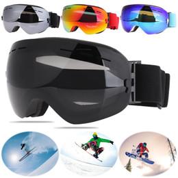 a8de7916b40 Professional Double Layers UV400 Anti-fog Big Ski Mask Glasses Unisex  Frameless Ski Goggles Outdoor Skiing Snowboard Glasses