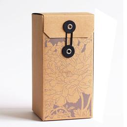 Простая складная коробка пустая подарочная коробка Kraft*9.5*19 см Крафт квадратная бумажная коробка чай упаковка коробки оптом от
