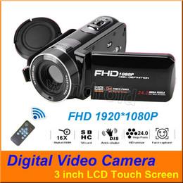 """Más barato 3 """"Pantalla táctil FHD 1080P 16X Zoom CMOS Lente Cámaras de video digital 24MP Videocámara DV 270 grados cámara giratoria control remoto desde fabricantes"""