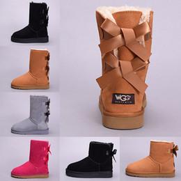 2019 botas de invierno en línea Diseñador WGG Mujer Winter Snow Boots Australia Tall Short Kneel Tobillo Negro Castaño Azul Marino Azul Rojo Lady Girl Talla 36-41 Venta en línea rebajas botas de invierno en línea