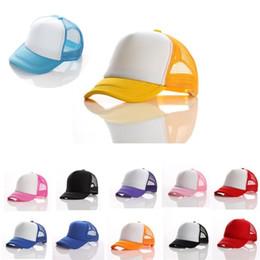 2019 cappello di dimensioni New Trucker Cap Sun hat bambini Mesh Caps Blank  Cappelli Snapback Cappelli 77e5bce746bf