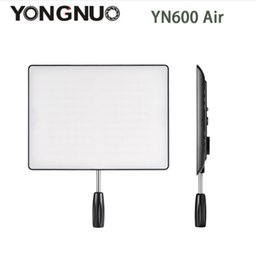 Wholesale Led Lights Panel Video - In Stock! NEW YONGNUO YN600 Air Led Video Light Panel 5500K and 3200K-5500K Bi-color Photography Studio Lighting