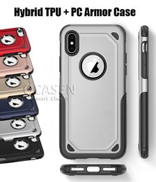 Wholesale Blue Frosting - 2 in 1 Matte Shell Frosted Hybrid Armor Case Slim Shockproof Back Cover For iPhone X 8 7 6S Plus Samsung S7 edge S8 S9 Plus Note 8 J5 J7