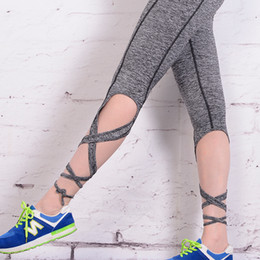 Wholesale Ballet For Sale - Yoga Tights Legging Pants Ballet Bandage Pants Cross-line Quick-dry Elastic Waist Sportswear for Fitness Hot Sale Sports Trousers