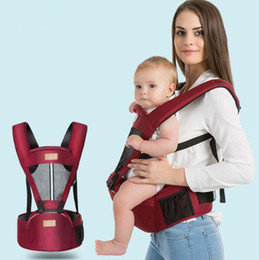 Wholesale baby carrier hip seat - Breathable Baby Waist Stool Comfortable kids Shoulders Carrier with hip seat Toddler Sling Backpacks 4 Colors DHT358
