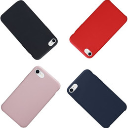 Wholesale Cellphone Water - Liquid Silicone Phone Case for Apple Iphone X 6 6Plus 7 7 Plus Cover Shockproof Protective Cellphone Cases Soft Cover for iPhone 8 8 Plus