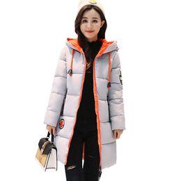 2018 New Winter Plus Size Piumino Donna Parka Thicken Slim Cotone coreano Abbigliamento Donna Giacca lunga con cappuccio da donna da giallo trapuntato fornitori