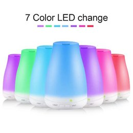 Wholesale Color Changing Christmas Lights - Essential Oil Aroma Diffuser LED Light Mini Ultrasonic Air Humidifier 7 Color Changed Night Light Home Atomizer Christmas Gift CCA9130 25pcs