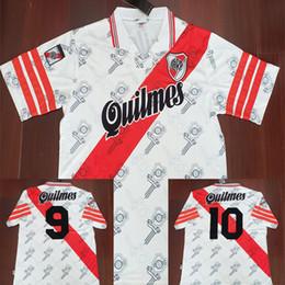 157405087b 96 97 River Plate Retro Soccer Jersey Pablo Aimar Vintage Gallardo 1996  1997 Calcio MAGLIA Classic Shirts Camisa Maillot Camiseta de Futbol  inexpensive ...