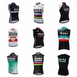 zyklus gilet Rabatt 2018 BORA Team Radfahren Sleeveless Jersey Weste Männer Winddicht Breathable Sleeveless Fahrrad Kleidung Breathable MTB Fahrrad Radfahren Gilet K90525