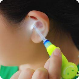 Wholesale Led Flashlight Ear Cleaner - Catoon LED Light Dig Flashlight Earpick Illuminant Ear Wax Remover Pick Ear-pick Clean Ears for Children