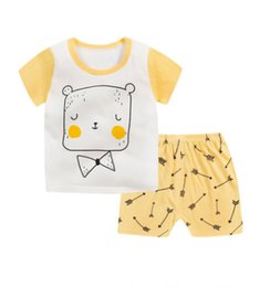 Wholesale pyjama tops - 2pcs Baby Girl Kids Tops+Pants Sleepwear Nightwear Pajama Pyjama Outfits