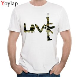 Wholesale Camouflage Graphics - Wholesale-YOYLAP Graphic Print T Shirts Camouflage Man Summer Autumn 100% Cotton Round Collar Tops Tees Fine Short Sleeve Casual Tee Shirt