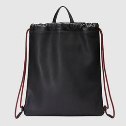Wholesale backpack england brand - Brands Print leather drawstring backpack Original quality Men Luxury bag 2 color Fashion Designer Bag Size 38*45cm model 494053