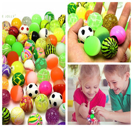 Wholesale toy jets - 43MM Bouncy Jet Balls Kids Children Toy For Pinata Loot Slot Machines Special Use Sphere DDA193