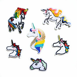 Wholesale Wholesale Embroidered Jeans - Animal Unicorn Embroidered Patches You're Magic Iron On Sewing Applique Badge Clothes Patch Stickers For Jackets Jeans