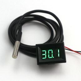 Mini Termómetro Digital Verde LED Impermeable Termómetro Medidor de Temperatura DS18B20 Sensor de 1 m de Alta Precisión Envío Gratis desde fabricantes