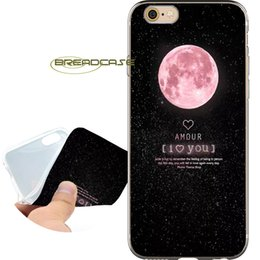 Iphone 5c cover pink en Ligne-Coque Pink Space Moons Coques pour iPhone 10 X 7 8 6S 6 Plus 5S 5 SE 5C 4S 4 iPod Touch 6 5 Coque en TPU Transparent et Souple.