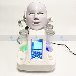 2019 equipamentos de cuidados faciais SPA terapia de oxigênio máquina 7in1 hydrafacial hidro microdermoabrasão cuidados com a pele facial Martelo frio BIO RF equipamento de remoção de rugas máscara led equipamentos de cuidados faciais barato