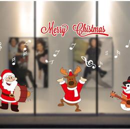 2019 виниловый виниловый винил X'MAS окно стикер 2018 новое прибытие 16 стилей с Рождеством стеклянная стена витрина стикер этикета декор стикер рождественские украшения