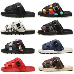 Wholesale Cloth Slippers - Latest Visvim FBT ELK Men Women sandal slippers flip flop top quality fashion Visvim Slippers Beach Sandals cheap sale online