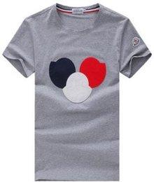 Wholesale Organic Cotton T - M5028 New Luxury Mon Brand Mens T-Shirt Summer T Shirt British French Style Short Sleeves Men's Tee Hommes Chemise