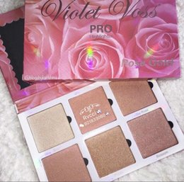 Wholesale gold highlighter - Hot Sale Item! New Sealed Cosmetics Violet Voss Rose Gold Highlighters Makeup 6 Colors Highlight Palette