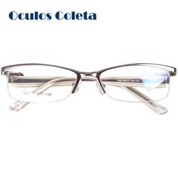 2019 occhiali da vista leggeri Occhiali da vista per occhiali da donna argento mezzo cerchio Italia design leggero in alluminio occhiali da vista leggeri economici
