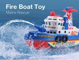 barco de juguete de metal Rebajas Recién barco eléctrico para niños, juguetes de rescate marino, barco de bomberos, niños, juguete eléctrico, navegación, no remoto, buque de guerra, regalo de alta velocidad