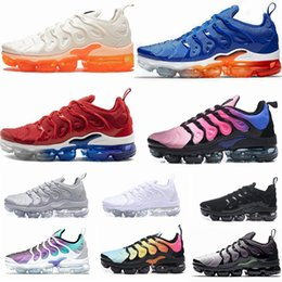 menthes sportives Promotion 2019 New TN Plus Jeu Royal Orange USA Tangerine à la menthe Grape Volt Hyper Violet formateurs Sport Sneaker Hommes femmes Designer chaussures de course