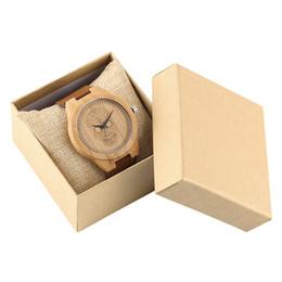 Рождественские часы онлайн-Skull Dial Wooden Men's Watches Quartz Simple Bamboo Watch Man Genuine Leather Strap Men Clock Hour with Box Christmas Gift Male