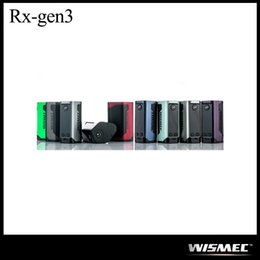 Wholesale Triple Batteries - Authentic WISMEC Reuleaux RX GEN3 300W Mod with Huge 1.3-inch OLED Display Powered by Triple 18650 Batteries WISMEC RXGEN3 Mod 100% Original