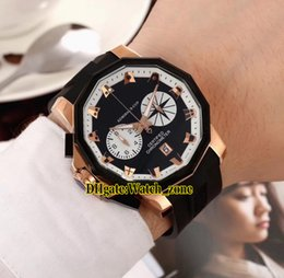 f43900ae0 Admiral s Cup Seafender 753.231.91 0F81 Rose Gold Black Dial Big Size  Miyota Quartz Chronograph Mens Watch Rubber Stopwatch Watches cup sizes nude  on sale
