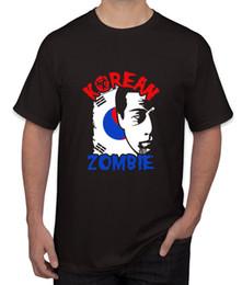 Coreano impreso tees hombres online-The Korean Zombie - Chan Sung Jung Ropa para hombres Camisetas Camisetas Tops sin mangas con estampado 2018 Camiseta para hombre