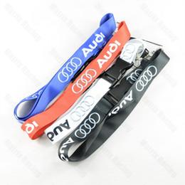 Cinghia cellulare per portachiavi online-JDM Style per VW Audi Logo Car Lanyard JDM Racing Car portachiavi ID Holder cinghia del collo mobile con sgancio rapido