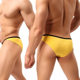 Wholesale Mens Underwear Jockstrap - Sexy Mens Briefs Underwear 2018 New Male Sexy Modal Spandex Mini Jockstraps Panties Gay Bulge Penis Pouch Underpants
