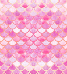 2019 cámaras del cielo Telón de fondo al por mayor para estudio fotográfico Escamas de pescado rosa Patrón de verano brillante Fondo dorado photocall baby shower Xt-6960