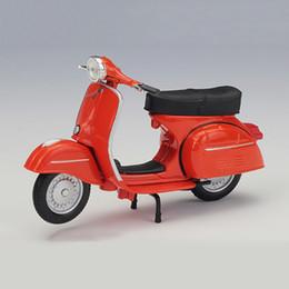 brinquedos para crianças diecast Desconto 1:18 Modelos de Moto VESPA Piaggio 1968GTR modelo de bicicleta Base Diecast Moto Crianças Brinquedo Para A Coleta Do Presente