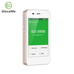 2019 carte sim 4g gratuite Routeur GlocalMe 4G WiFi Roaming gratuit Réseau rapide Hotspot portable avec banque d'alimentation Double emplacement pour carte SIM Double promotion carte sim 4g gratuite