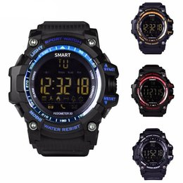 Wholesale Mens Golden Wrist Watches - New smart mens watches ex16 WITH top brands online shop wholesale outdoor sport Health data tracking monitor watch