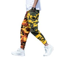 Calça jeans 5xl on-line-Calças de Carga dos homens de camuflagem 2018 Camo Hip Hop Calças Homem Mulheres Streetwear Corredores Sweatpants Masculino Patchwork Toursers 4XL 5XL