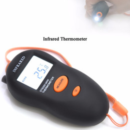 Wholesale Ir C - 1PC Mini LCD Display Handheld Non-contact Infrared Thermometer DT8260 LED Light IR Temperature Measuring Tools -50~260 C