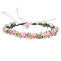 Deutschland Mode Rosa Blume Krone Hochzeit Braut Kranz Corolla 2018 Heiße Böhmen Rote Tiaras Haarschmuck Stirnband Frauen Mädchen Geschenk Haarschmuck Versorgung