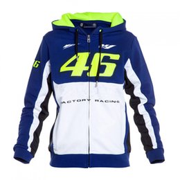 Wholesale Blue Moto Jacket - 2017 Rossi VR46 M1 Factory Racing Team Moto GP Hoodies Motocross Sweatshirts leisure Riding jackets 2