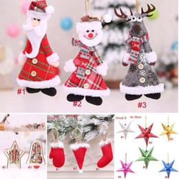 Decoración exterior online-Árbol de navidad, Decoración, Percha, Muñeco de nieve, Papá Noel Ciervo, Oso, Casa, Navidad, Decoración para el exterior, Regalo