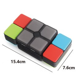 Wholesale Flip Electronics - Magic Cube Electronics With Light Music Puzzle Flip Foldable Led Cubes Multiplayer Brain Training Decompression Toys Free Shipping 38dq Z
