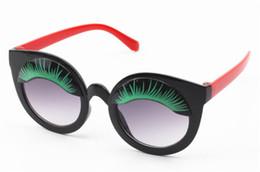 Personalidad de la moda Niños Gafas de sol Cortar Dibujos Animados Pestañas Lentes Decorativas Gafas Anti-UV Adumbra Gafas de Sol Gafas Sombras desde fabricantes