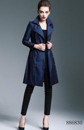 Wholesale new fashion coats for women - NEW 2018! WOMEN FASHION ENGLAND X-LONG COTTON TRENCH COAT HIGH QUALITY BRAND DESIGNER SLIM BELTED LONG TRENCH FOR WOMEN B6830F330 S-XXL