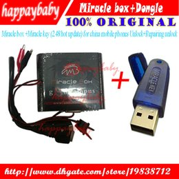 Wholesale China Brand Phones - Hot Sale Original Miracle box +Miracle key with cables (2.48 hot update) for china mobile phones Unlock+Repairing unlock